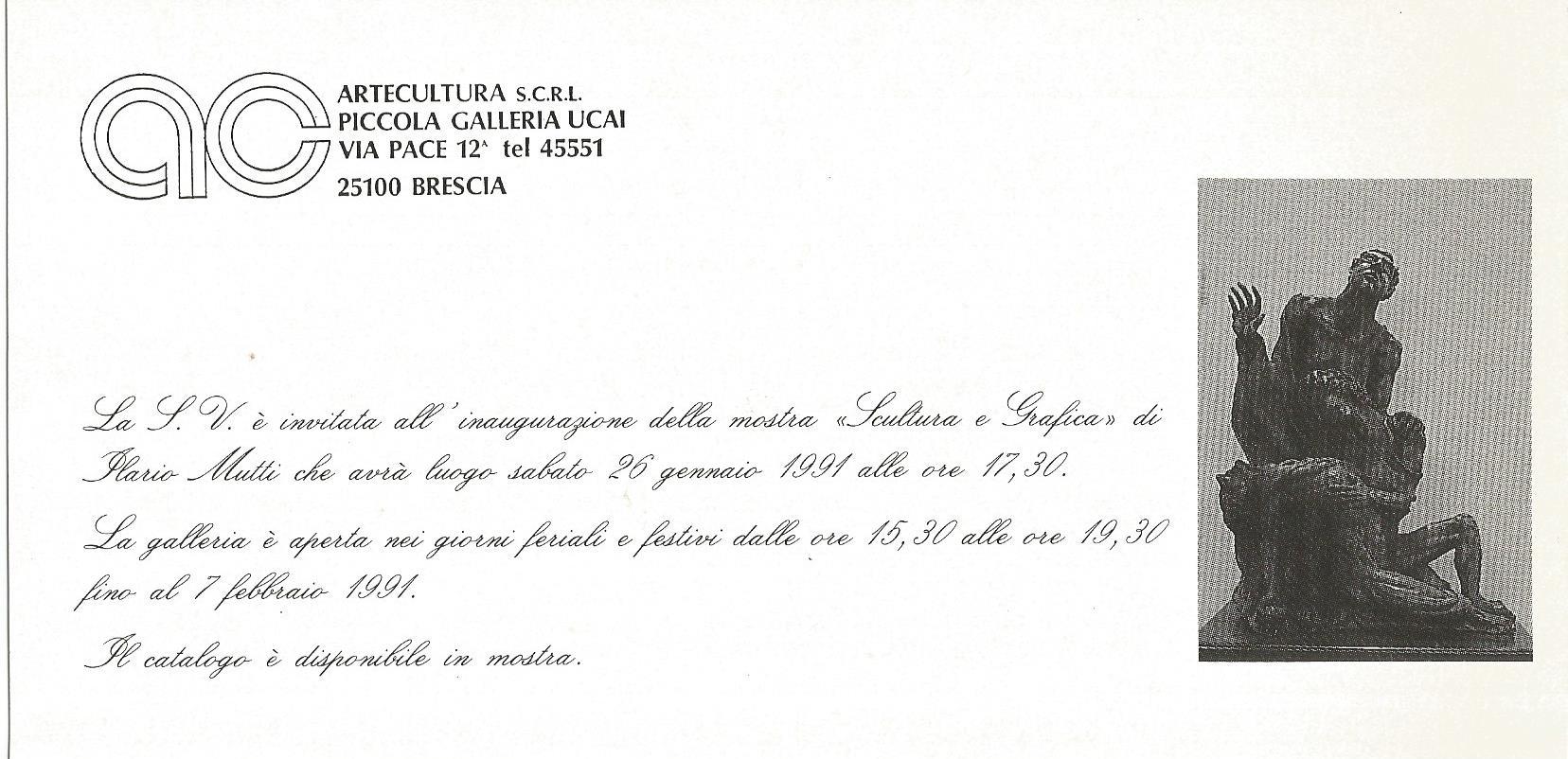 Ilario mutti scultore lombardia rezzato brescia for Catalogo bricoman rezzato brescia